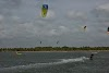 Sri. Lanka Kalpitiya Kiteboarding. Kalpitiya Lagoon on the resorts' side