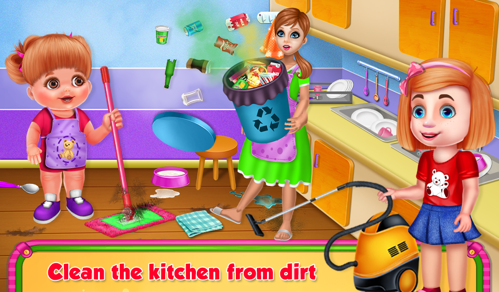 Baby Diana's House Cleaning- screenshot