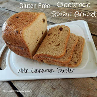 Gluten Free Cinnamon Raisin Bread with Cinnamon Butter.