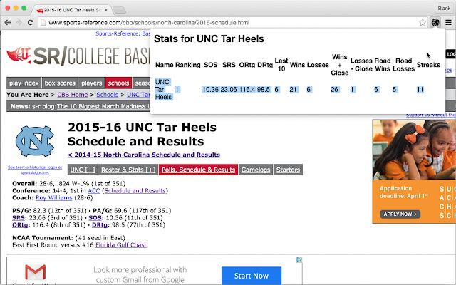 NCAA Basketball Stats Analyzer