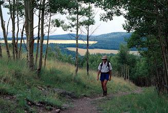 Photo: Hiker, Escudilla Mountain Trail, White Mountains, Apache National Forest, Arizona