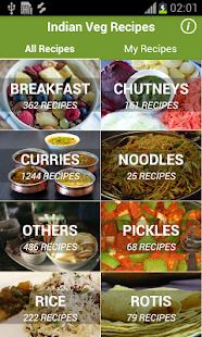 Vegetarian recipes free indian recipes offline apps on google screenshot image forumfinder Gallery