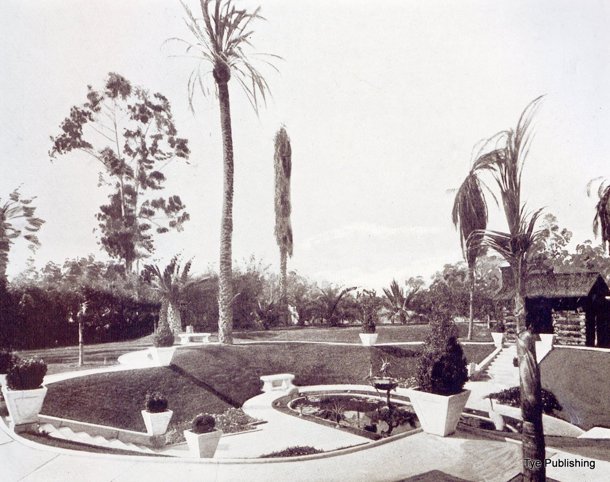 Photo: Rear Yard W. J. Hole Residence 1913 (ref: Homes & Gardens of the Pacific Coast)
