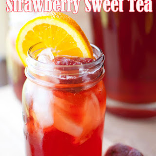 Southern Style Strawberry Sweet Tea.