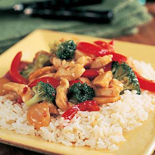 Garlic Turkey-Broccoli Stir-Fry.