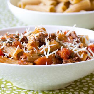 Homemade Pasta Sauce - Ragu Recipe with Tomato and Sausage.