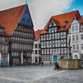 Hildesheim by Nancy Merolle - Buildings & Architecture Public & Historical ( town square, germany, buildings, historical, hildesheim, architecture )
