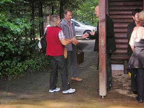 Photo: Ankunft der Rothrister Familie Wullschleger Charlotte ( Kassierin) mit ihrem Kurt
