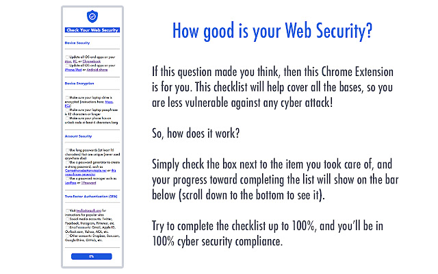 Cyber Security Checklist Extension