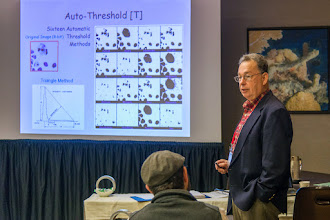 Photo: Richard VanMetter teaching course on ImageJ; SPIE Medical Imaging 2015