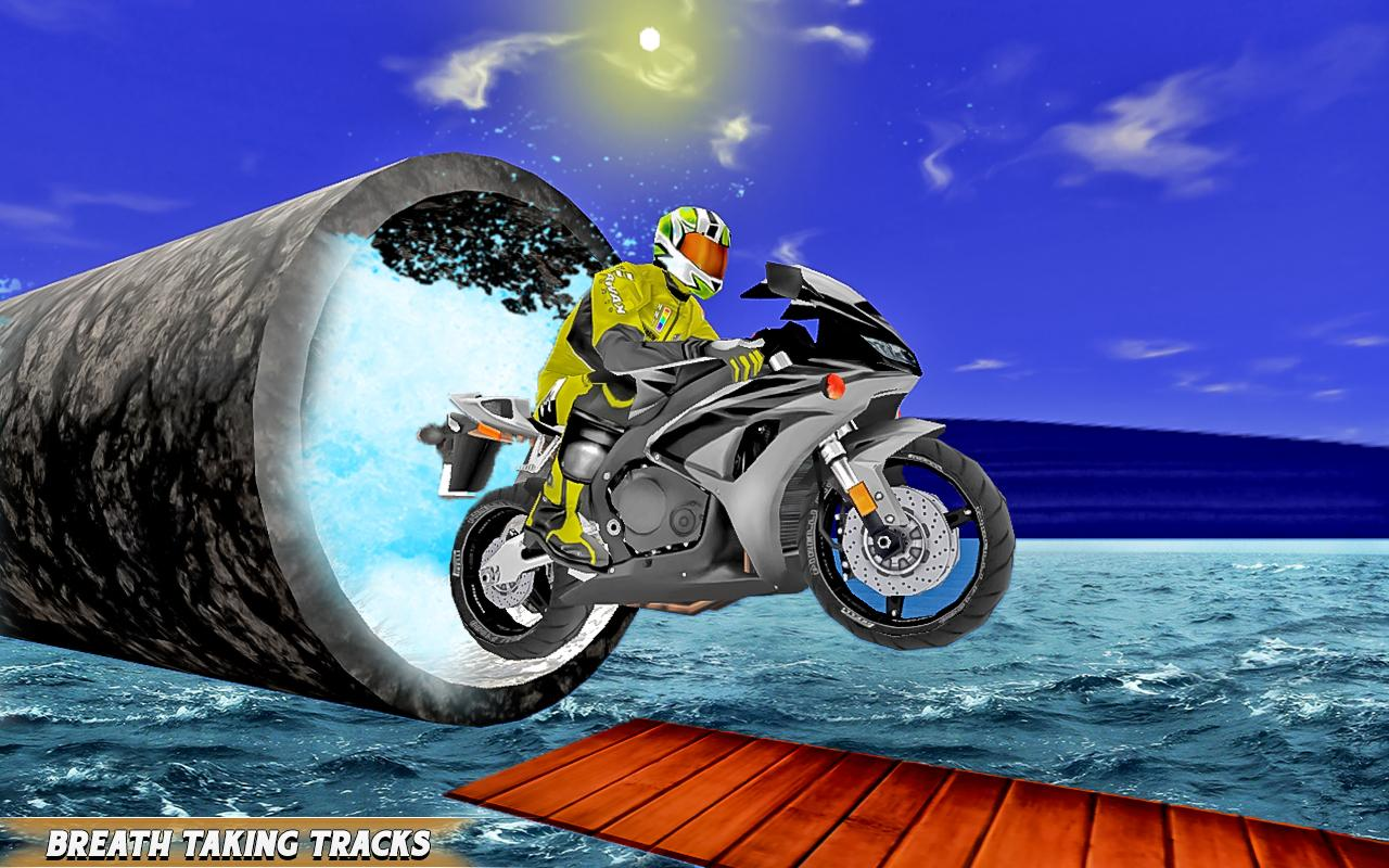 Bike Stunt Racing Adventure:motorbike racing games- screenshot
