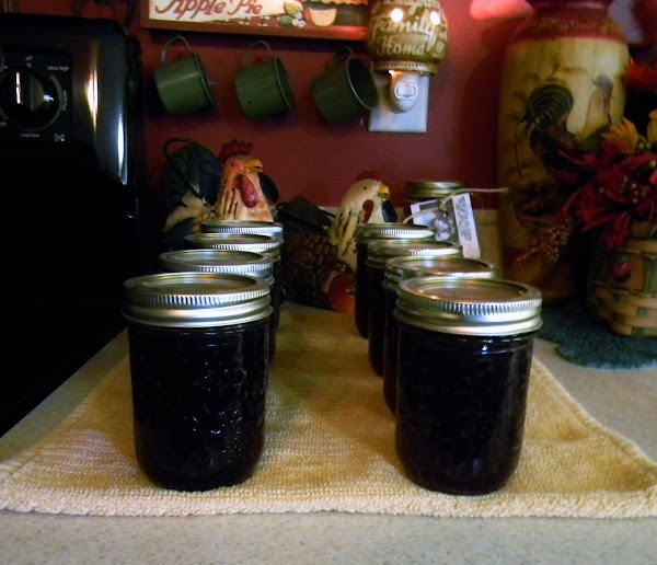 Remove from heat, skim off foam and fill jars with 1/4 inch head space...add...