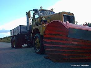 Photo: Brøytebilen til flyklubben