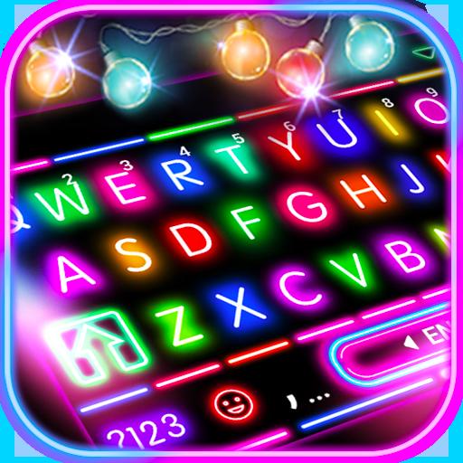 Sparkle Neon Lights Keyboard Theme Icon