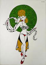 """Photo: """"Snake Charmer"""" acrylic on canvas  2012"""