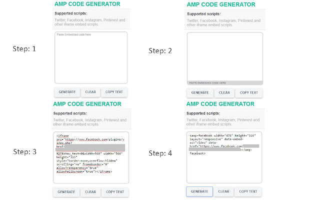 AMP Code Generator