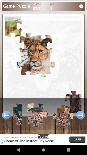 Lion Game Jigsaw Puzzle  screenshots 5