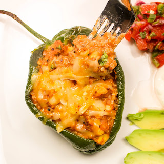 Vegetarian Enchilada Stuffed Peppers