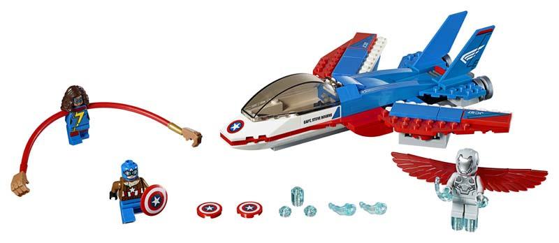 Contenido de Lego® 76076 Jet del Capitán América