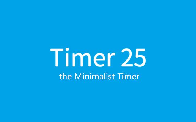 Timer 25: the Minimalist Timer