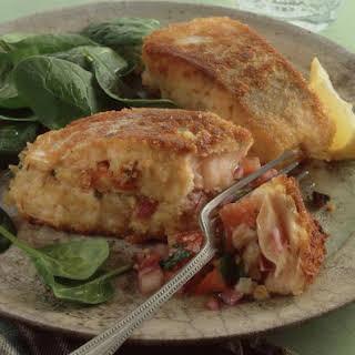 Salsa Stuffed Salmon.