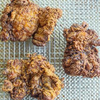 Garama Masala Spiced Fried Chicken Thighs.
