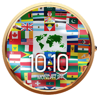 Flags of the World Watch Face- screenshot thumbnail