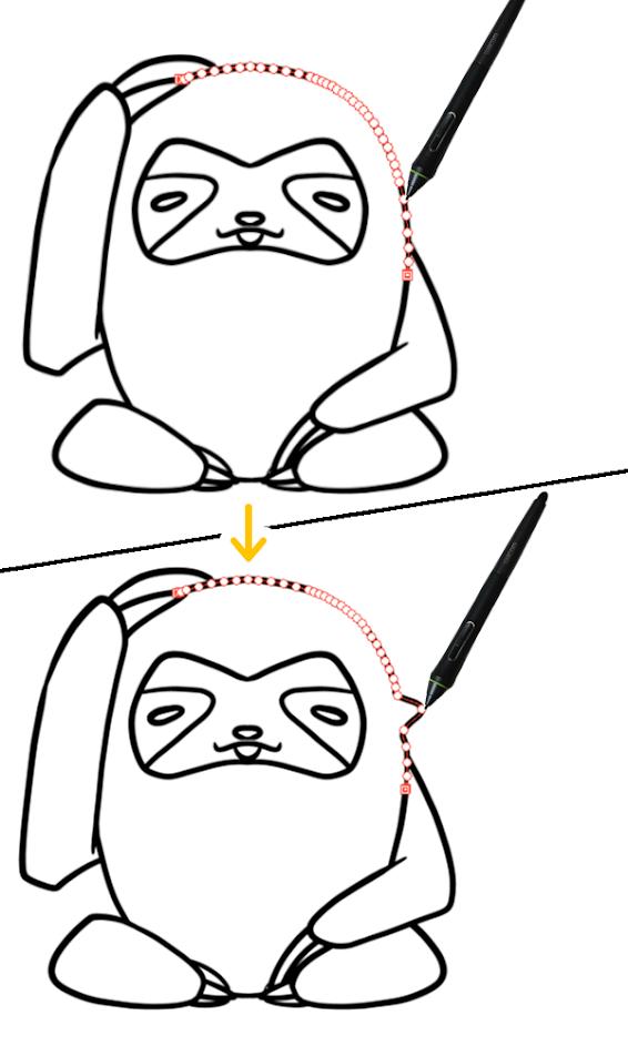 クリスタ:制御点の移動