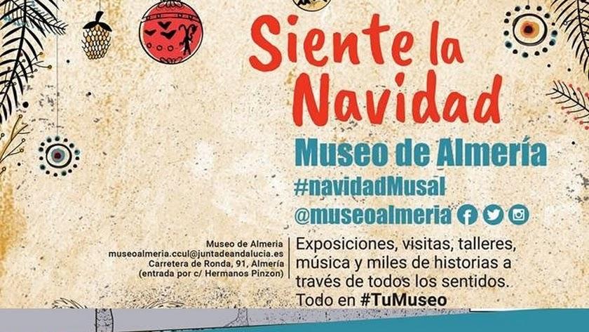 Cartel de la programación de Navidad en el Museo de Almería.