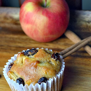 Cinnamon Apple Raisin Muffins.