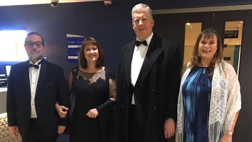 From left to right: Mike Richards, Sue Richards, Tracey Dodd and Barry MacDougall.