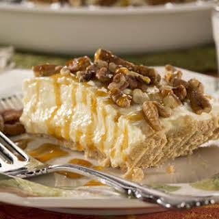 Caramel Pecan Cheesecake Pie.