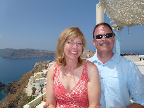 Photo: Kirk and Teresa in Santorini Greece