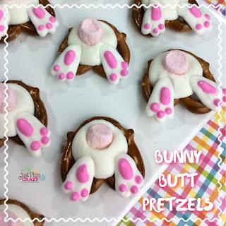 Easter Bunny Butt Pretzels.