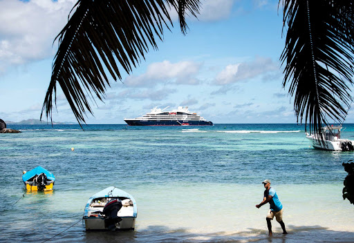 Laperouse-in-Seychelles.jpg - The Ponant ship Le Laperouse moored off the coast of the Seychelles.