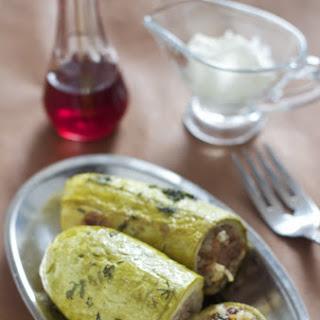 Stuffed Zucchini (Punjene Tikvice)