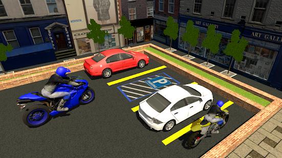 Bike Parking Training School Game :Moto Parking 3D - náhled
