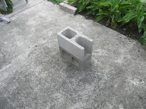 Photo: Implementation: Block 3. Fire chamber (open end concrete block)