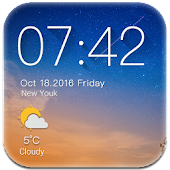 Weather Widget with Clock