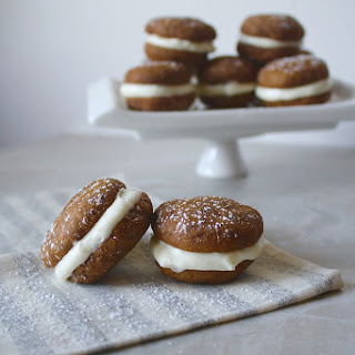 Pumpkin Whoopie Pies with Bourbon–Cream Cheese Filling