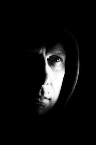 Self Portrait  by Werner Booysen - People Portraits of Men ( selfie, stare, black & white, self portrait, gary fong, man, werner booysen, Selfie, self shot, portrait,  )