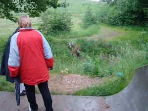 Photo: På vej ned i vildnisset ved underføringen under Odderbanen