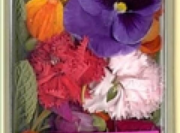 How To Prepare Edible Flowers With Fine Sugar