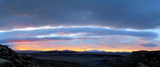 Photo: Sunrise, Cedar Mountain, and the Henrys