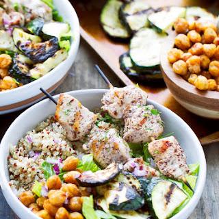 Sumac Chicken Kabobs Quinoa Bowls