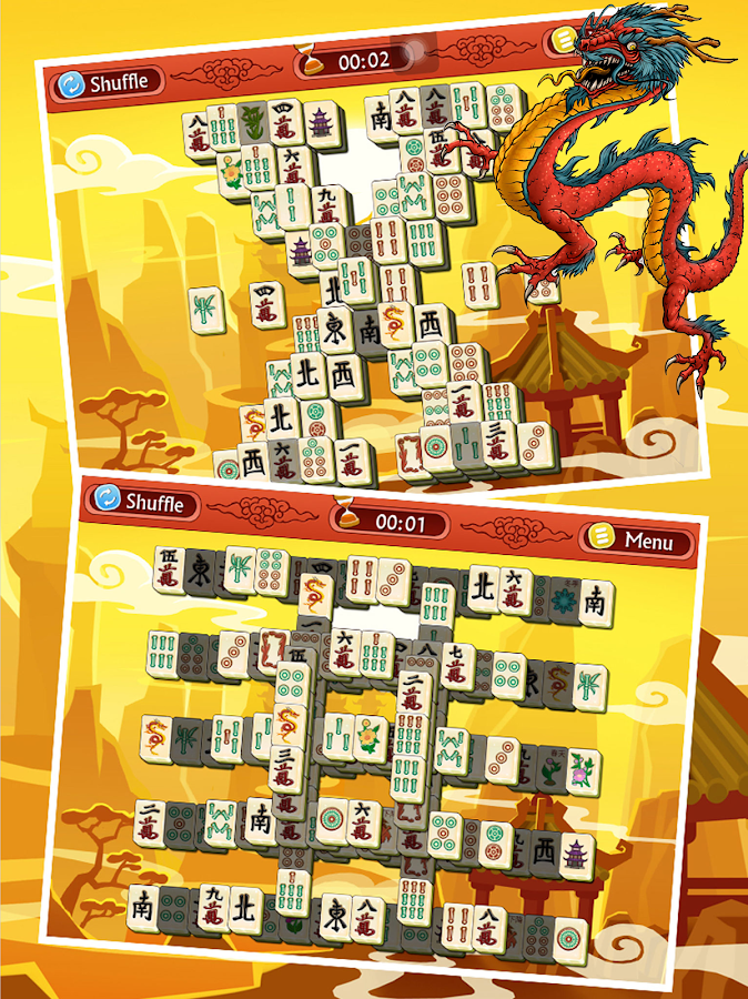 🀄 Mahjong Solitaire Dragon Free 🀄- screenshot