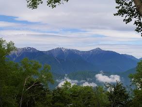 左から農鳥岳・間ノ岳・北岳・北岳など