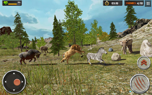 The Lion Simulator - Wildlife Animal Hunting Game modavailable screenshots 1