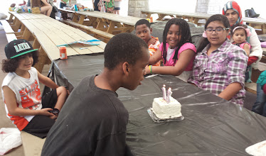 Photo: Q blows out his candles