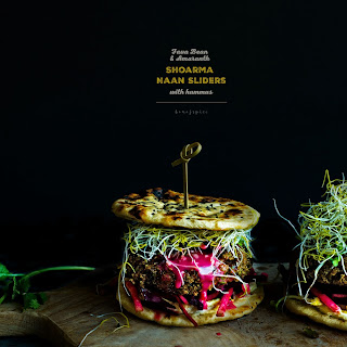 Fava Bean and Amaranth Shoarma Naan Sliders with Hummus Recipe